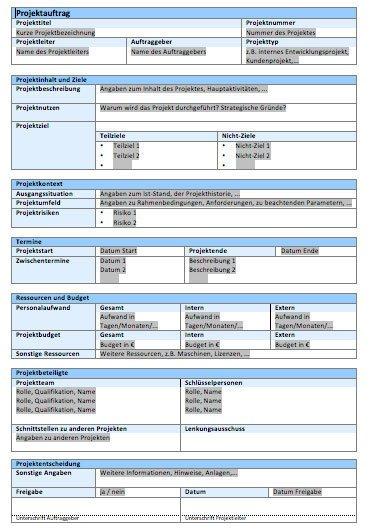 Projektmanagement-Vorlagen kostenlos - Projekte leicht gemacht