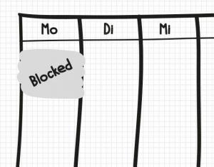 Zeitfenster für Projektmanagement-Aufgaben