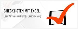 Checklisten mit Excel