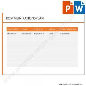 Vorlage Kommunikationsplan