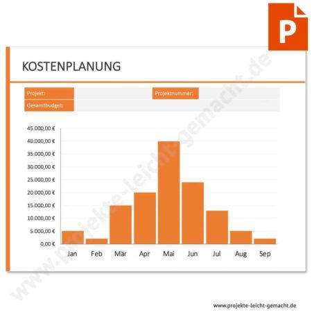 Vorlage Kostenplanung - Säulendiagramm
