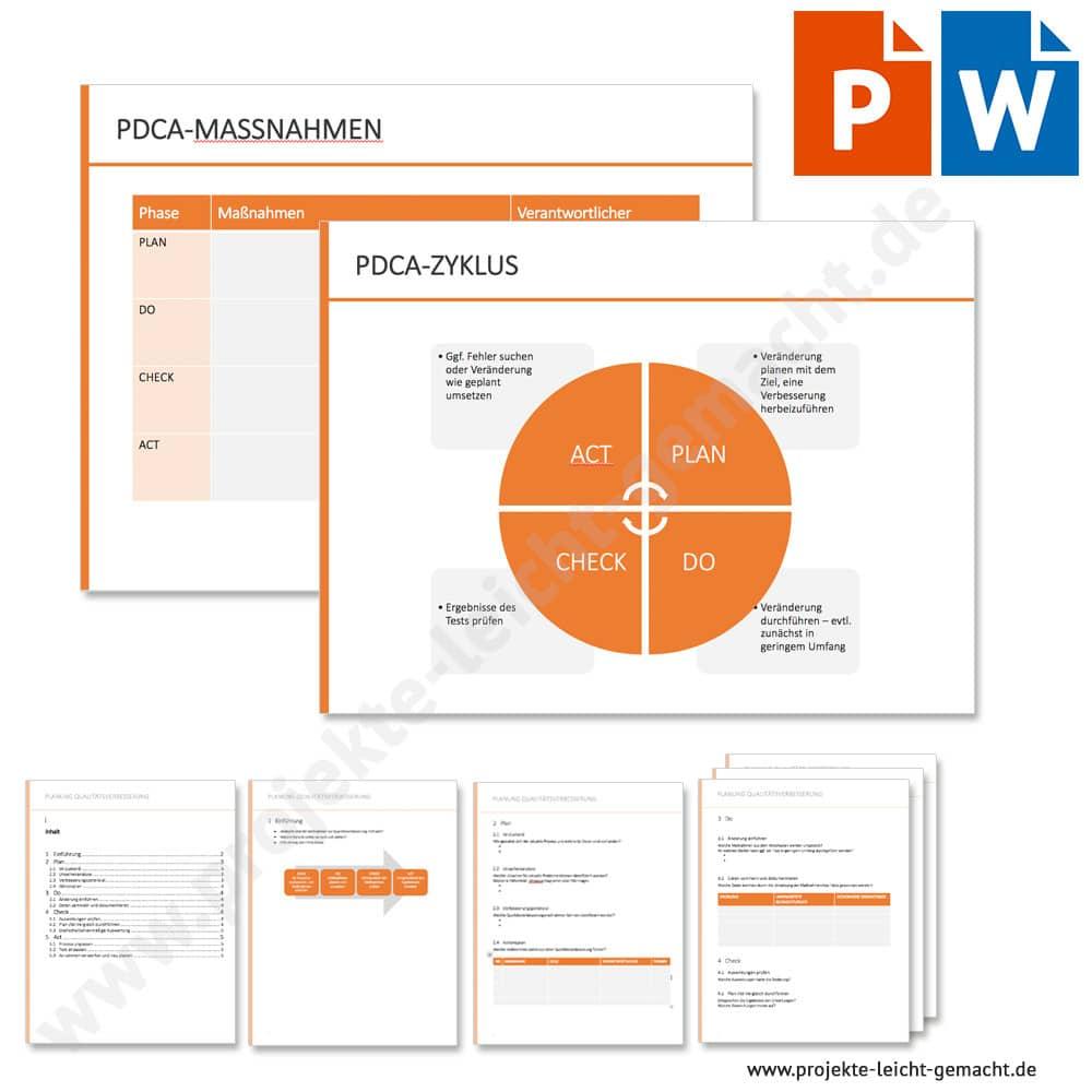 Pdca Zyklus Und Massnahmenplanung Vorlage Business Wissen De 9