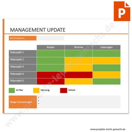 Vorlage Management-Update