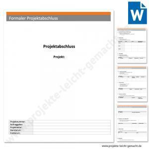 Vorlage Formaler Projektabschluss