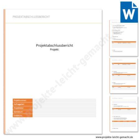 Vorlage Projektabschlussbericht
