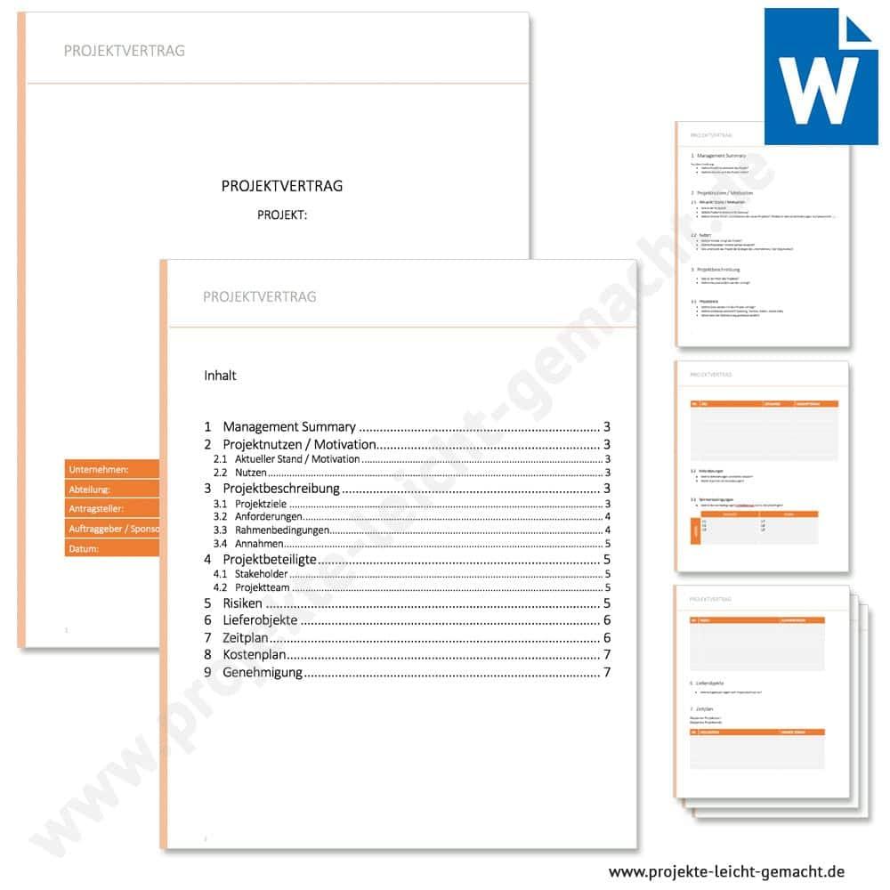 Projektauftrag Vorlage Word Vorlage Kostenlos 12