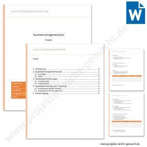 Vorlage Qualitätsmanagementplan