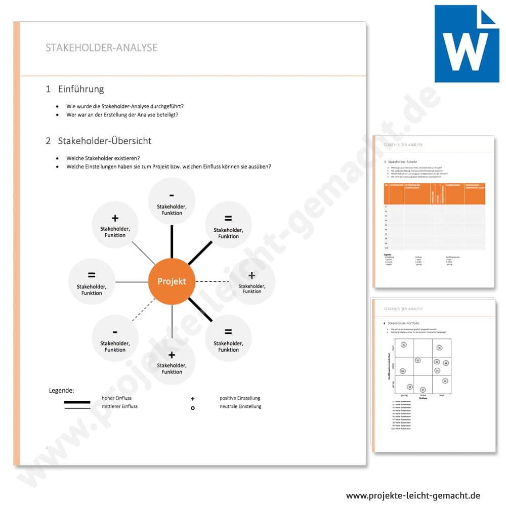 Vorlage Stakeholderanalyse Projekte Leicht Gemacht