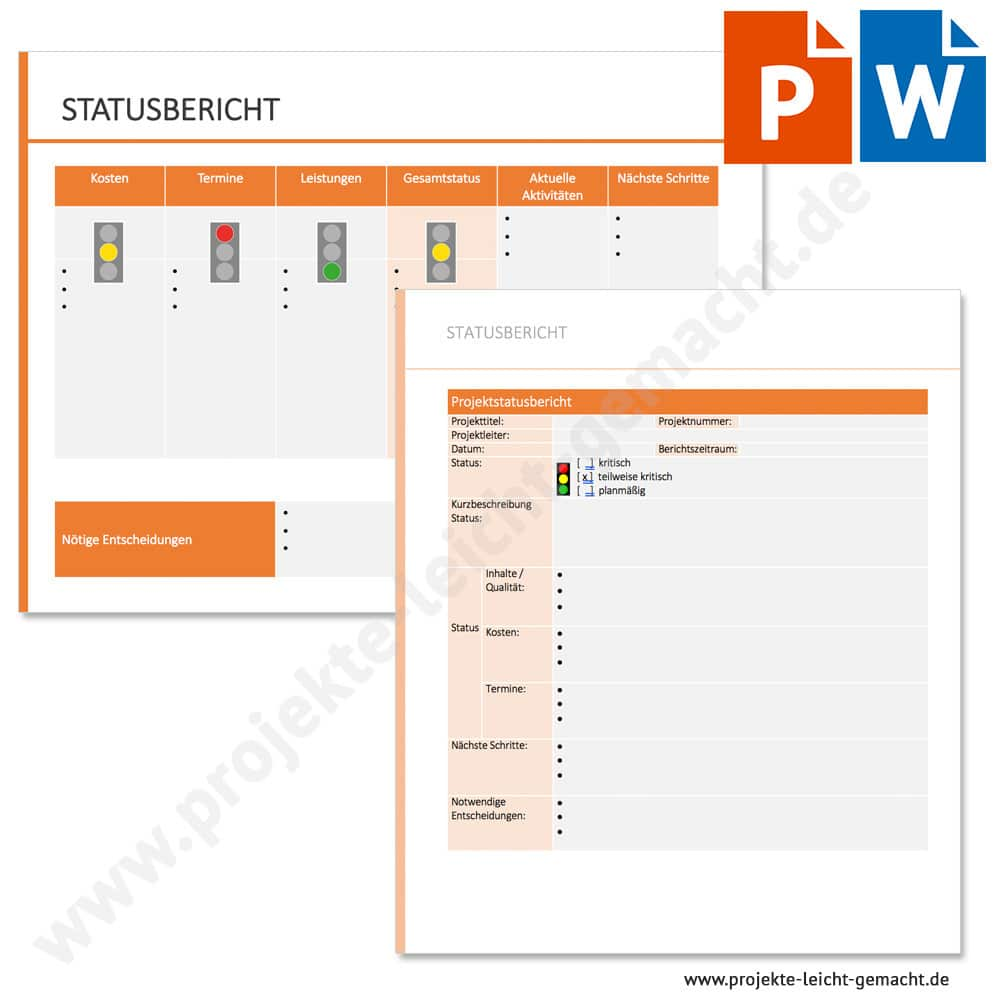 Vorlage Statusbericht Projekte Leicht Gemacht