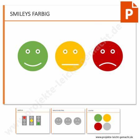 Vorlage Smileys und Ampeln